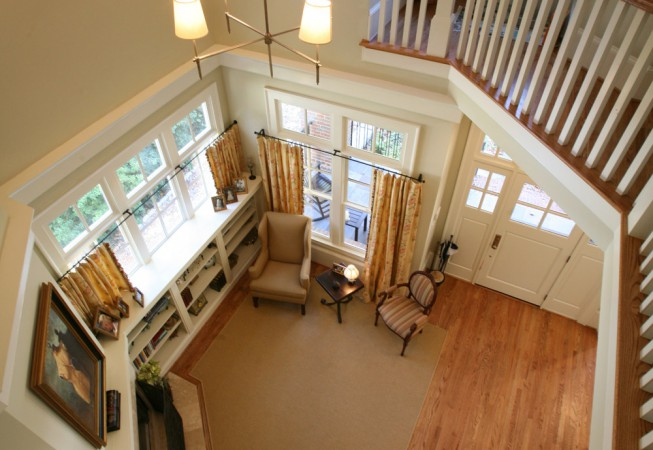 VIEW OF LIVING ROOM FROM 2ND STORY